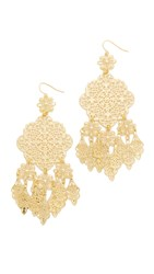 Adia Kibur Callie Chandelier Earrings Gold