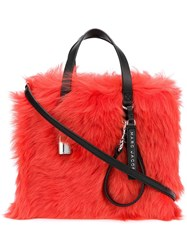 Marc Jacobs The Fur Mini Grind Tote Red