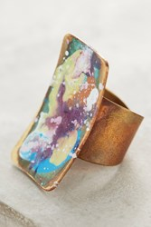 Anthropologie Springbeam Rectangle Ring Lilac
