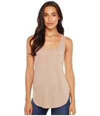 Lamade Boyfriend Tank W Pocket Dune Women's Sleeveless Taupe
