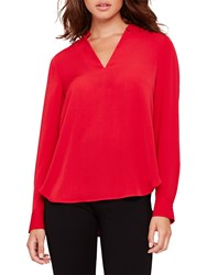 Damsel In A Dress Hailey V Neck Blouse Ruby Red