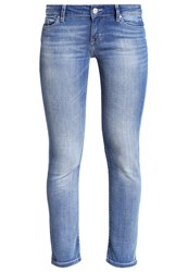 Mustang Jasmin Slim Fit Jeans Aged Bleached Light Blue Denim