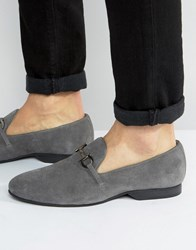 Frank Wright Tassel Loafers Grey Suede Grey
