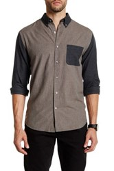 Lands' End Herringbone Shirt Brown