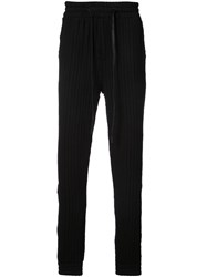 Private Stock Textured Stripe Track Trousers Black