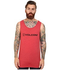 Volcom New Style Tank Drip Red Heather Men's Sleeveless