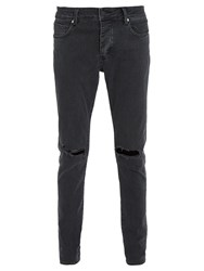 Neuw Iggy Distressed Skinny Jeans Black