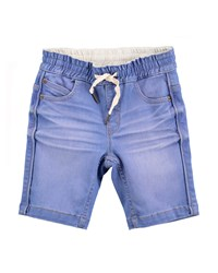 Molo Whiskered Cotton Blend Chambray Shorts Light Blue