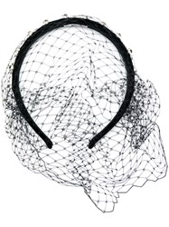 Red Valentino Mesh Embellished Hair Piece Black