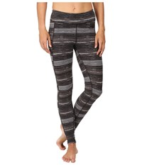 The North Face Pulse Tight Tnf Black Urban Sketch Stripe Print Women's Workout