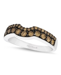 Le Vian Chocolate Diamond Wedding Band 5 8 Ct. T.W. In 14K White Gold