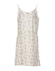 Local Apparel Short Dresses Ivory
