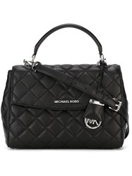 Michael Michael Kors Small Quilted Satchel Black