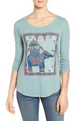Lucky Brand Women's Elephant Ride Print Tee
