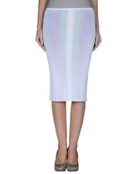 Marco De Vincenzo Knee Length Skirts White