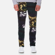 Kenzo Men's Cotton Camo Trousers Midnight Blue