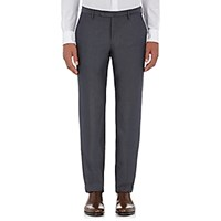 Incotex Men's M Body Modern Fit Cotton Trousers Grey