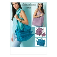 Vogue Kathryn Brenne Shoulder Bags And Pouch Sewing Pattern 9120 One Size
