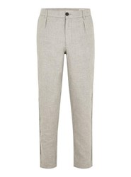 Selected Homme Grey Tapered Trousers