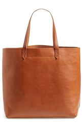 Madewell 'The Transport' Leather Tote Brown English Saddle