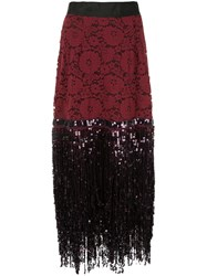 Romance Was Born Disco Dame Skirt Red