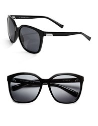 Calvin Klein Logo Plated 63Mm Square Sunglasses Black