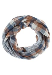 Pier One Snood Brown Blue White