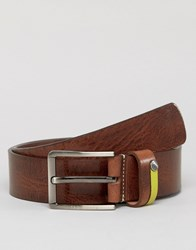 Ted Baker Leather Belt With Highlight Keeper Tan