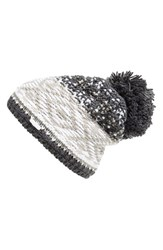 Women's Lole Jacquard Knit Beanie Grey Dark Charcoal