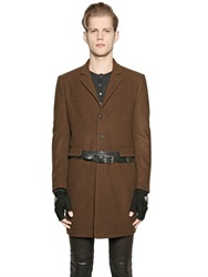 John Varvatos Wool And Mohair Blend Coat