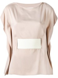 Maison Martin Margiela Mm6 Belted Shortsleeved T Shirt Nude Neutrals