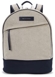 Want Les Essentiels Kastrup 13 Faux Suede And Nylon Backpack Navy