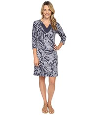Fresh Produce Cancun 3 4 Sleeve Notch Dress Charcoal Grey Women's Dress Gray