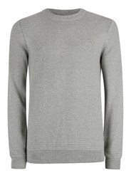Topman Premium Dark Grey Ribbed Slim Fit Sweater