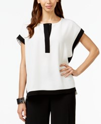 Alfani Prima Colorblocked Cap Sleeve Top Only At Macy's