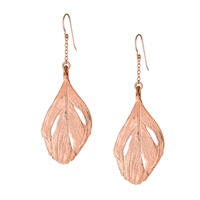 Chupi Maxi Swan Feather Earrings Rose Gold