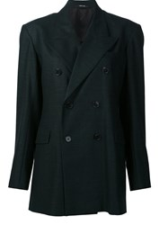 Maison Martin Margiela Double Breasted Peacoat Green