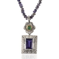 Emma Chapman Jewels Hayami Emerald Pendant Blue Green