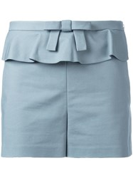 Red Valentino Bow Detail Shorts Blue