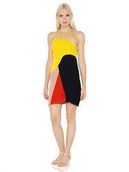 Stella Mccartney Intarsia Ribbed Knit Dress