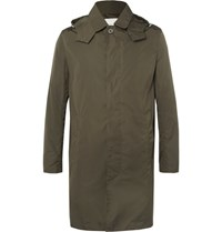 Mackintosh Bonded Shell Hooded Raincoat Army Green