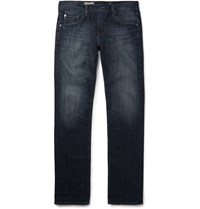 Ag Jeans Matchbox Slim Fit Washed Denim Jeans Blue