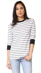 The Fifth Label Three Days Long Sleeve Top White Navy Stripe
