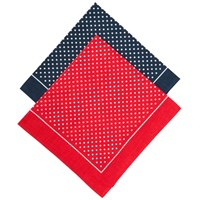 John Lewis Supersize Spot Handkerchiefs Navy Red
