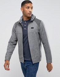 Abercrombie And Fitch Zipthru Hoodie Active Blocked In Greys