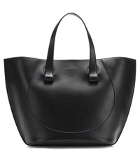Victoria Beckham Large Tulip Leather Tote Black