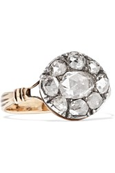 Fred Leighton 1800S Gold And Sterling Silver Diamond Ring