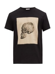 Alexander Mcqueen Anatomical Skull Print Cotton T Shirt Black