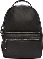 Diesel Black Gold Black Grained Leather Private E1 Backpack