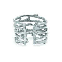 Chupi Love Is All You Need Twig Ring In Silver